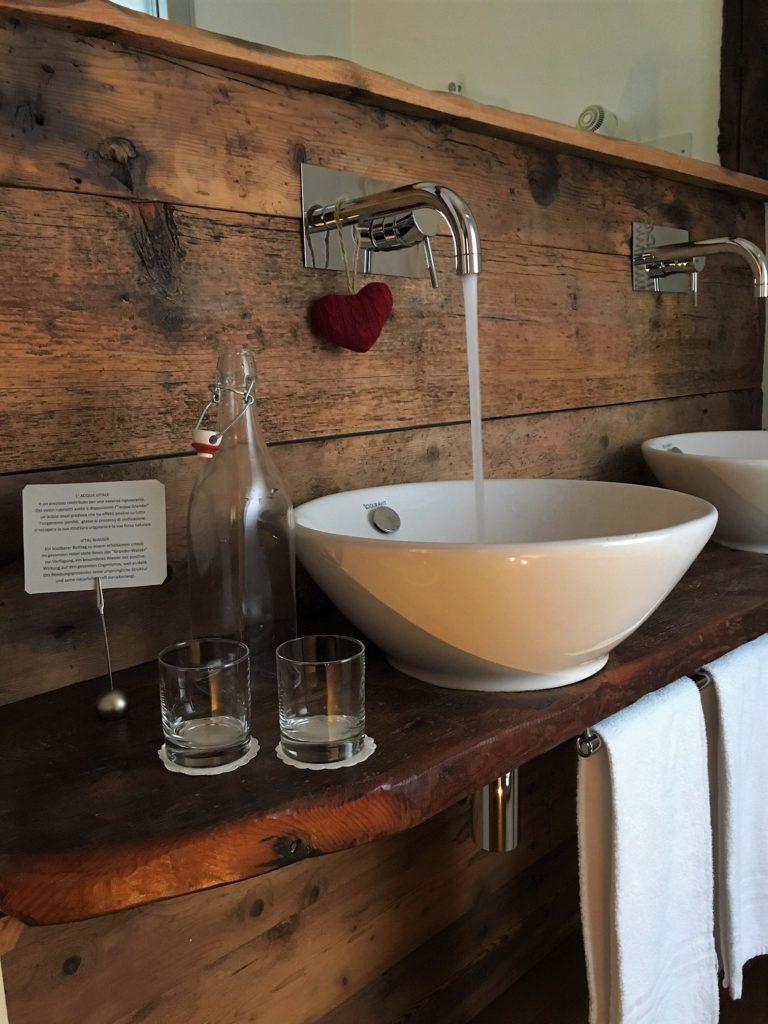 Acqua vitalizzata potabile per il benessere fisico a Campitello di Fassa - Villa Kofler